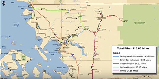 Port of Bellingham broadband map